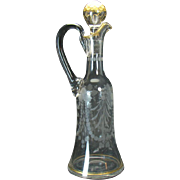 Large Hand Blown Vinegar Cruet with Applied Handle - 1890's