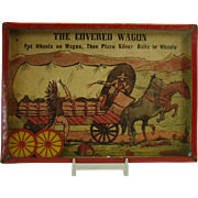 Dexterity Game - Covered Wagon with Cowboy & Indian Toy - 1920's