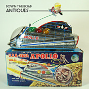 NASA Apollo Space Ship Battery Operated Toy - Mint in Box - 1960's