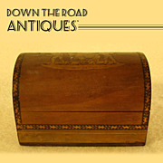 Inlaid Box Wood Jewel Casket - 1880's