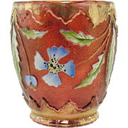 Enameled Cranberry Glass Delaware Tumbler - 1920's