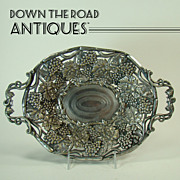 Early Embossed Repoussé Fruit Dish  - 1870's