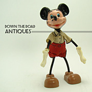 Marx Mickey Mouse Bendy Toy - Walt Disney Productions