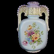 Large Austrian Two-Handled Porcelain Vase