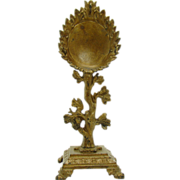 Ornate Cast Iron Watch Holder with Squirrel on Oak Tree - 1880's