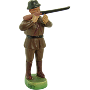 Jointed Celluloid Rifleman Soldier Toy - Mint