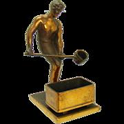 Bronze Sculpture of Foundry Worker Smelter - Johnson Bronze Co.