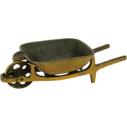 Solid Bronze Wheelbarrow Ash Tray - 1930's