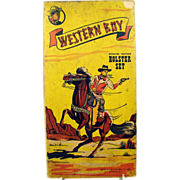 Western Boy Holster Set - BOX ONLY - Excellent Condition - 1930's