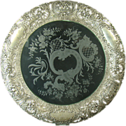 Sterling Silver Cake Stand with Devil Heads and Fruit Basket - 1880's
