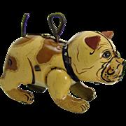 Tin French Bulldog Wind-up Toy - Pre-War - Near Mint