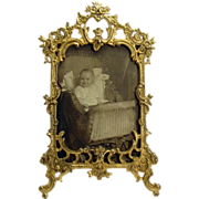 Cast Iron Picture Frame - Late 1800's Victorian