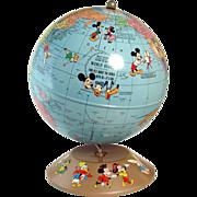Walt Disney Productions World Globe Educational Toy - 1940's