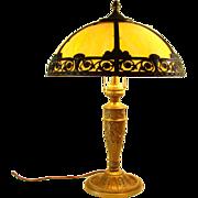 Salem Bros. Caramel Slag Glass Table Lamp - 1920's