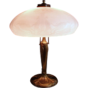 Pittsburgh Electric Table Lamp with Acid Cut-back Shade - 1920's