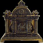 Solid Bronze Letter or Napkin Holder - 1900's