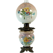 Hand Painted Banquet Lamp with Floral Design