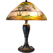 Jefferson Reverse-Painted Electric Table Lamp - 1920's