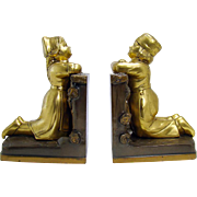 Ronson Bookends with Dutch Boy and Girl - 1920's