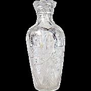 Large American Brilliant Period Cut Glass Vase