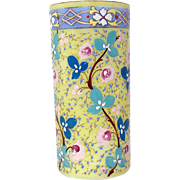 Hand-Painted Opalene Glass Vase - 1910