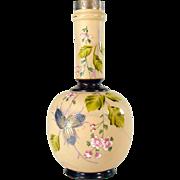 Fireglow Enameled Glass Vase - 1910