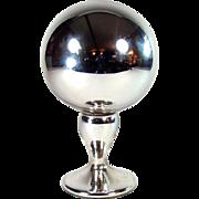 Victorian Mercury Glass Gazing Ball - 1880