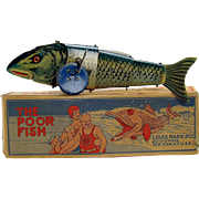 Marx Poor Fish Wind-up Toy - Mint in Box