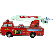 Battery Operated Fire Truck Toy with Snorkel - Mint