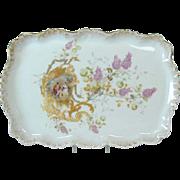 Hand-Painted Limoges Porcelain Dresser Tray