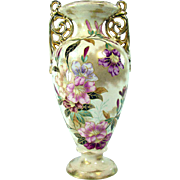 Large Signed Royal Bonn Porcelain Floral Vase