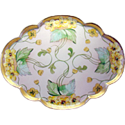 Signed Hand Painted Pickard Porcelain Dresser Tray