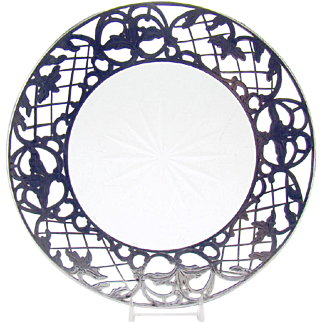 Sterling and Cut Glass Trivet - 1890's