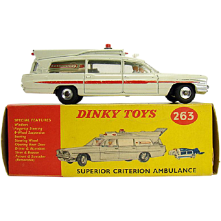 Dinky Toys Superior Criterion Ambulance #63 - Near Mint in Box
