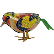 Pre-War Tin Pecking Bird Wind-up Toy