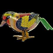 Pre-War Tin Pecking Bird Wind-up Toy