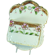 Hand Painted Nippon Porcelain Double-Wall Match Holder