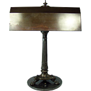 Bronzed Desk Lamp with Lion Heads and Claw Feet - 1915