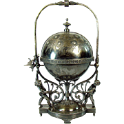 Miller & Co. Silver Plated Figural Butter Keeper - 1880's