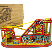 Chein Tin Roller Coaster Wind-up Toy with Box