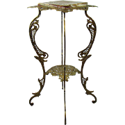 Ornate Iron and Marble Fern Stand - 1890's