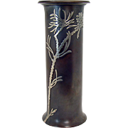 Heintz Art Metal Sterling & Bronze Vase