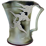 Hand-Painted Nippon Porcelain Water Pitcher with Flying Geese - 1920's