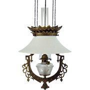 Signed Bradley & Hubbard Pull-down Library Lamp - 1880's