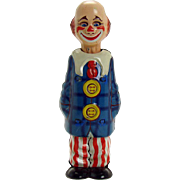 German Tin Creepy Clown Wind-up Toy - Near-mint