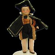 Hand-Painted German Ceramic Dollhouse Doll - 1910