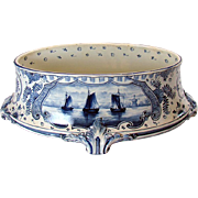 Royal Bonn Blue Oval-Form Food Server - 1890's