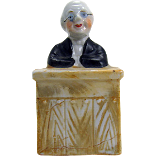 Rare Porcelain Professor Still Bank - 1910