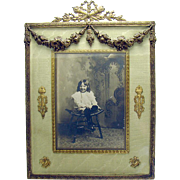 Gilt Bronze Victorian Picture Frame - 1890's