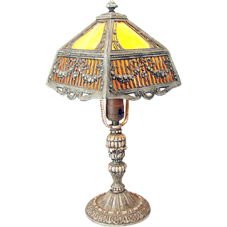 Signed Salem Brothers Electric Boudoir Lamp - 1920's